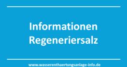 Informationen Regeneriersalz
