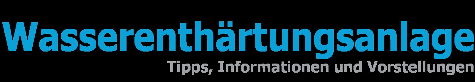 Wasserenthärtungsanlage Logo Head